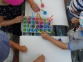 Malen mit Eiswürfeln