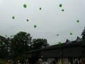 Ballone steigen lassen zum 10-jährigen Jubiläum